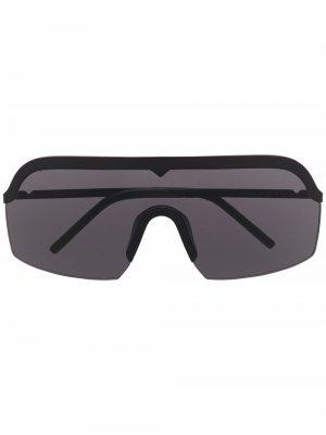 Массивные солнцезащитные очки KZ40111I Kenzo. Цвет: черный