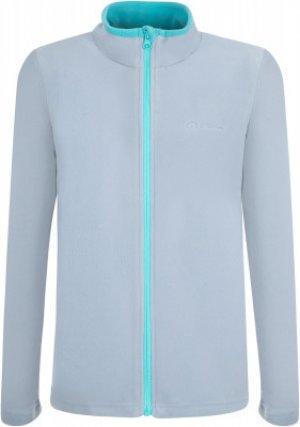 Джемпер флисовый для девочек , размер 116 Outventure. Цвет: серый