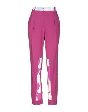 Повседневные брюки PARAKIAN. Цвет: розовато-лиловый