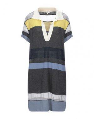 Короткое платье HAUTE HIPPIE. Цвет: стальной серый