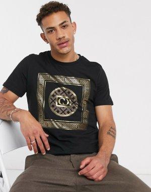 Черная футболка -Черный Criminal Damage