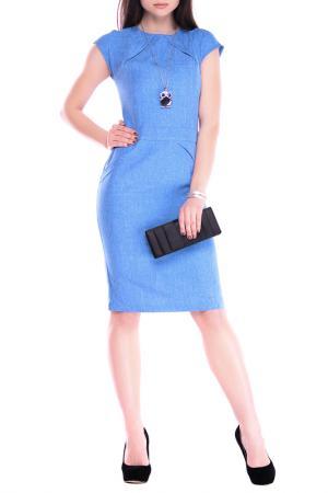 Платье REBECCA TATTI. Цвет: голубой