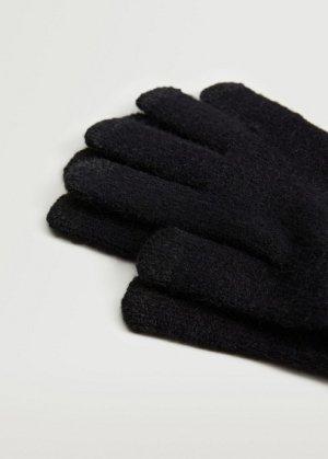 Сенсорные перчатки из трикотажа - Touch Mango. Цвет: черный