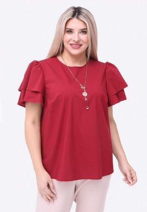 Блуза Luxury Plus. Цвет: бордовый