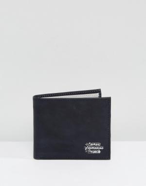 Черный кожаный бумажник с кармашком для монет Dogma Element. Цвет: черный