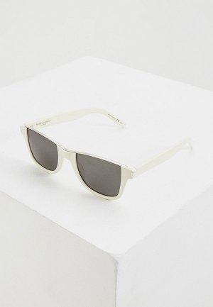 Очки солнцезащитные Saint Laurent SL 51 CUT. Цвет: белый