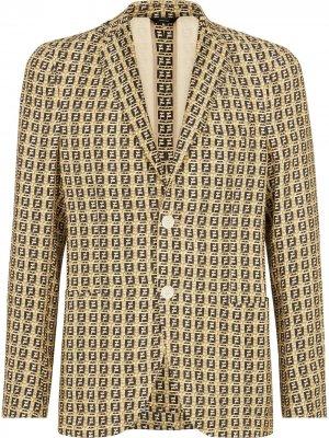 Пиджак с логотипом FF Fendi. Цвет: нейтральные цвета