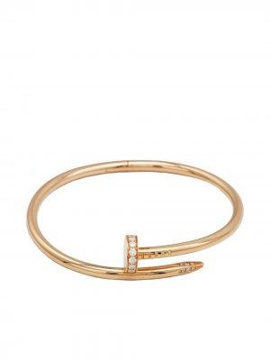 Браслет Juste Un Clou из розового золота с бриллиантами Cartier. Цвет: золотистый