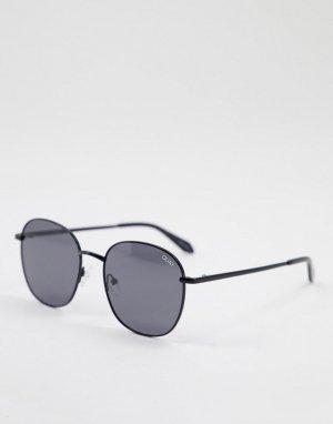 Черные круглые солнцезащитные очки унисекс Quay Jezabell-Черный цвет Australia