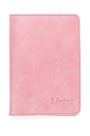 Обложка для паспорта D.Angeny. Цвет: розовый