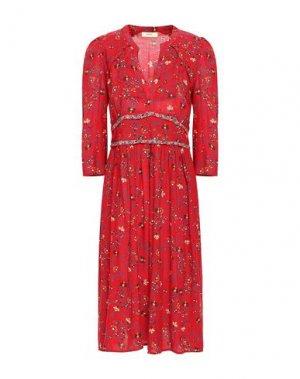 Платье длиной 3/4 BA&SH. Цвет: красный