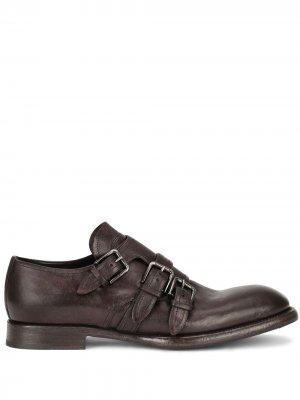 Туфли монки с эффектом потертости Dolce & Gabbana. Цвет: коричневый