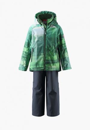 Костюм утепленный Reima Weave. Цвет: зеленый