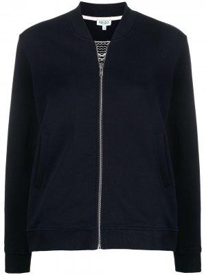 Куртка-бомбер с вышивкой Tiger Kenzo. Цвет: синий