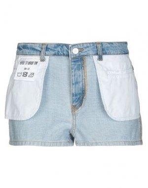 Джинсовые шорты AU JOUR LE. Цвет: синий