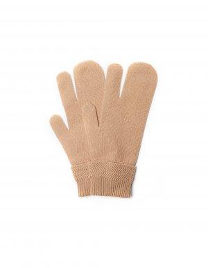 Бежевые перчатки из шерсти и кашемира Maison Margiela