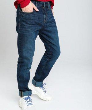 Тёмно-синие зауженные джинсы O`Stin. Цвет: синий
