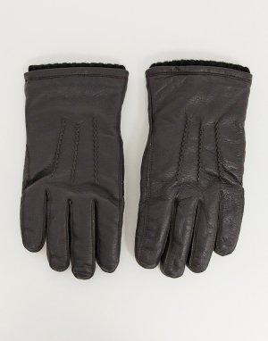 Классические кожаные перчатки -Коричневый French Connection