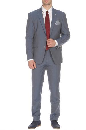 Костюм: брюки, пиджак STONES. Цвет: синий