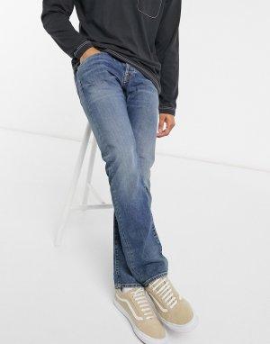 Синие выбеленные суженные книзу джинсы классического кроя ED55-Черный цвет Edwin