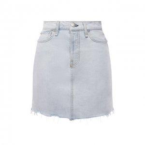 Джинсовая юбка Rag&Bone. Цвет: голубой