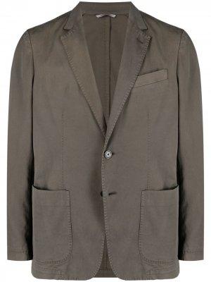 Однобортный пиджак Canali. Цвет: коричневый