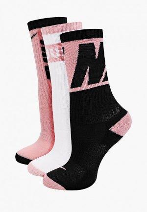 Носки 3 пары Nike Y NK EVERDAY CUSH CREW 3PR. Цвет: разноцветный
