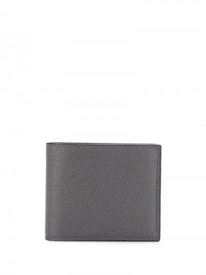 Квадратный кошелек Valextra. Цвет: серый