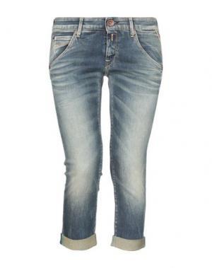 Джинсовые брюки-капри REPLAY. Цвет: синий