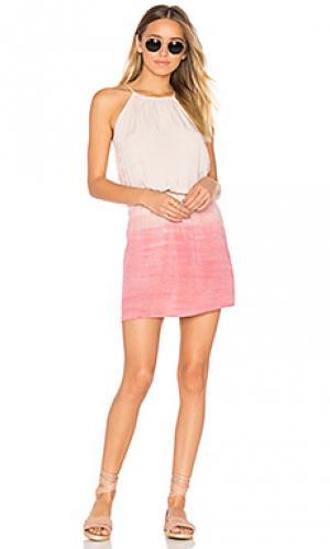 Платье с изменяемым верхом Michael Stars. Цвет: розовый