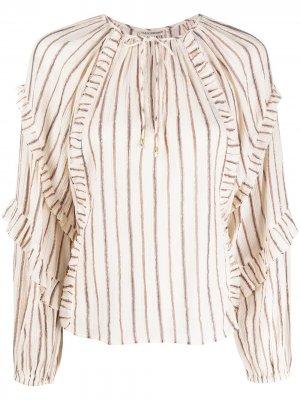 Блузка Liana в полоску Ulla Johnson. Цвет: нейтральные цвета