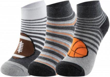 Носки для мальчиков , 3 пары, размер 24-35 Skechers. Цвет: серый