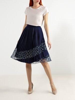 Плиссированная юбка Pinko. Цвет: siniy