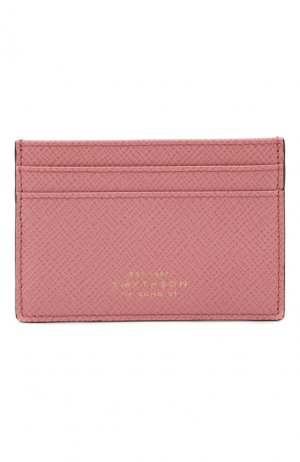 Кожаный футляр для кредитных карт Smythson. Цвет: розовый