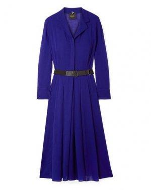 Платье до колена AKRIS. Цвет: синий