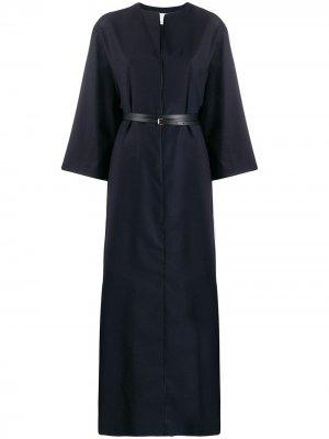 Длинное платье-рубашка A.P.C.. Цвет: синий