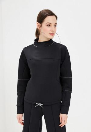 Свитшот Nike DRI-FIT WOMENS LONG-SLEEVE CROPPED TRAINING TOP. Цвет: черный