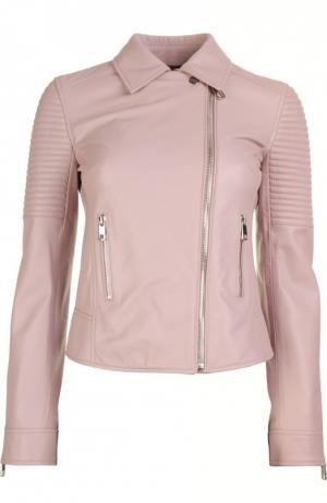 Кожаная куртка Dolce & Gabbana. Цвет: розовый