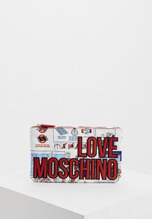 Клатч Love Moschino. Цвет: белый