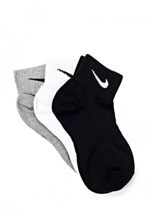Комплект Nike Unisex Perfect Lightweight Quarter Training Sock (3 Pair). Цвет: разноцветный
