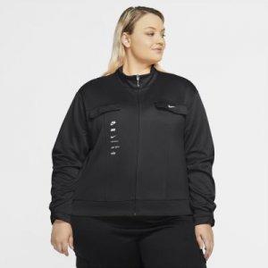 Женская куртка из полиэстера Nike Sportswear Swoosh (большие размеры) - Черный
