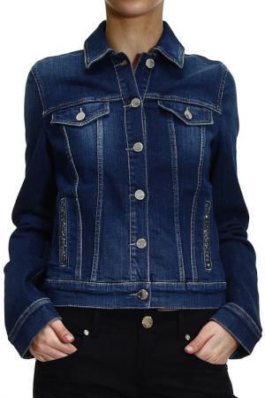 Джинсовая куртка Armani Jeans. Цвет: синий