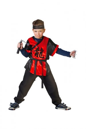 Карнавальный костюм Страна Карнавалия. Цвет: черный, красный
