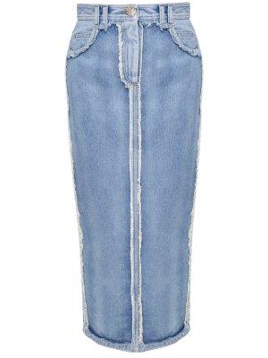 Юбка-миди джинсовая BALMAIN