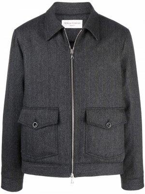 Кашемировая куртка с воротником Officine Generale. Цвет: серый