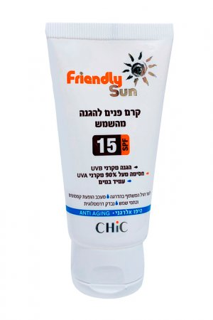 Солнцезащитный крем SPF 15 Chic Cosmetic. Цвет: белый