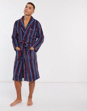 Флисовый халат -Темно-синий Ben Sherman