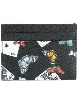 King of Clubs print cardholder Dolce & Gabbana. Цвет: многоцветный