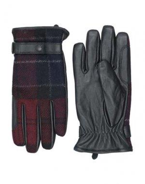 Перчатки BARBOUR. Цвет: красно-коричневый