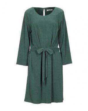 Платье миди DRY LAKE.. Цвет: темно-зеленый